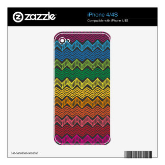 Rainbow Chevron Decal For iPhone 4
