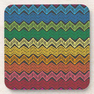 Rainbow Chevron Drink Coaster