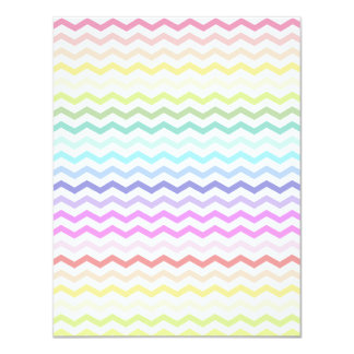 Rainbow chevron personalized announcements