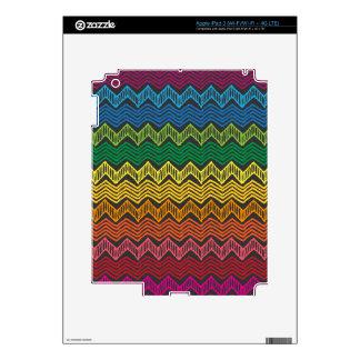 Rainbow Chevron iPad 3 Skins