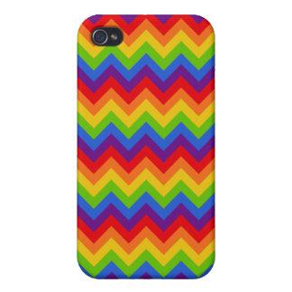 Rainbow Chevron iPhone 4/4S Covers