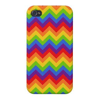 Rainbow Chevron Case For iPhone 4