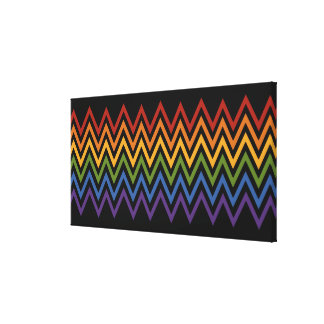 Rainbow Chevron Pattern custom canvas print