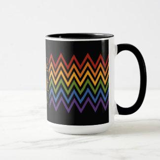 Rainbow Chevron Pattern custom mugs