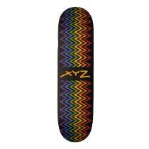 Rainbow Chevron Pattern custom skateboard