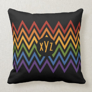 Rainbow Chevron Pattern custom throw pillow