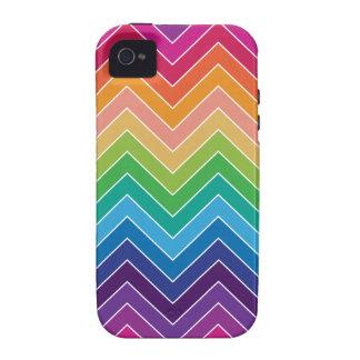 Rainbow Chevron Pattern Modern gifts Case-Mate iPhone 4 Case