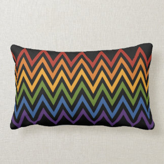 Rainbow Chevron Pattern throw pillow