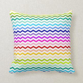 Rainbow chevron throw pillow