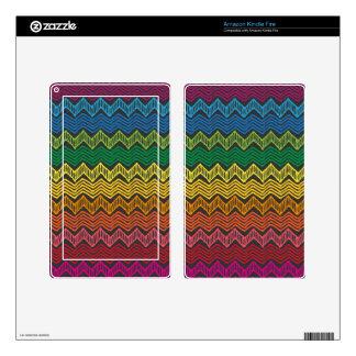 Rainbow Chevron Skin For Kindle Fire
