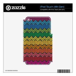 Rainbow Chevron Skins For iPod Touch 4G