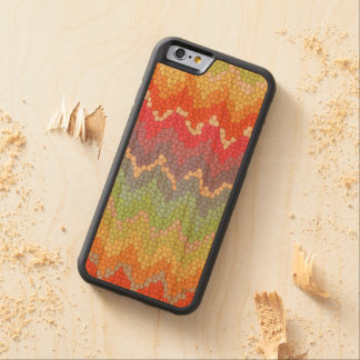 Rainbow chevron stained glass Phone wood case