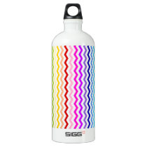 Rainbow chevron water bottle