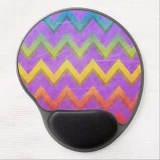 Rainbow Chevron With Shadows-Scratched Gel Mousepads