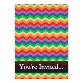 Rainbow Chevron Zig-Zag Card