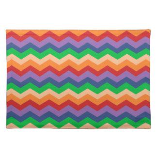 Rainbow Chevron Zig-Zag Cloth Placemat