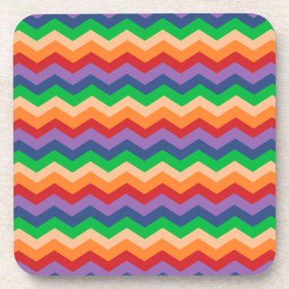 Rainbow Chevron Zig-Zag Drink Coaster