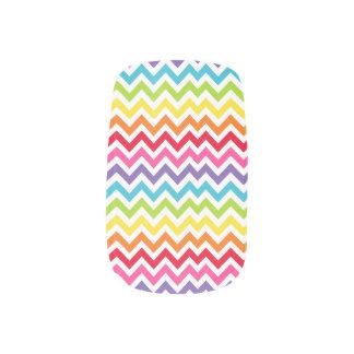 Rainbow Chevron/ZigZag Design Minx ® Nail Wraps