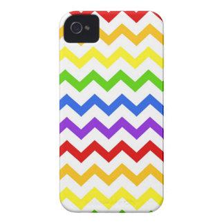 Rainbow chevron zigzag kawaii cute zig zag pattern iPhone 4 case