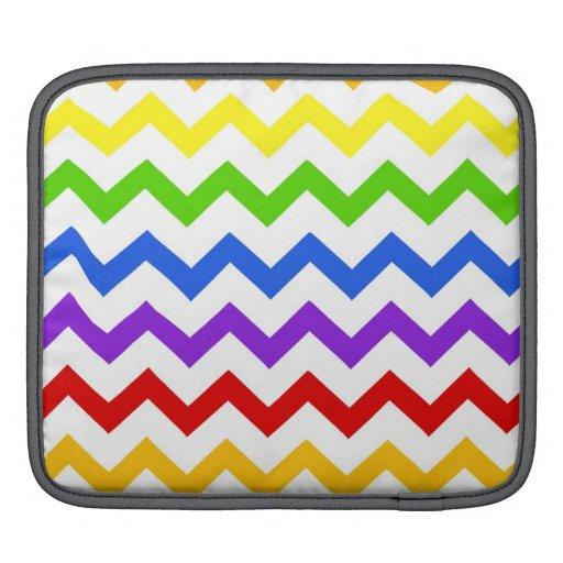 Rainbow chevron zigzag kawaii cute zig zag pattern iPad sleeve