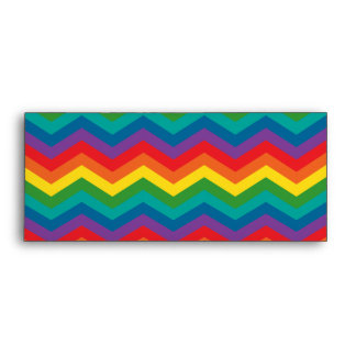 Rainbow Chevron Zigzag Pattern Envelope