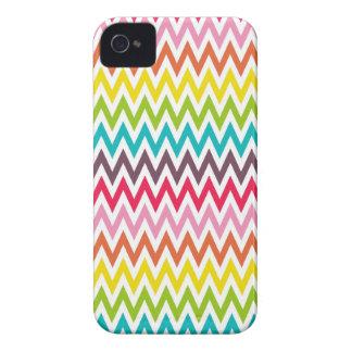 Rainbow chevron zigzag tribal zig zag pattern Case-Mate iPhone 4 cases
