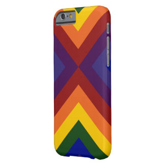 Rainbow Chevrons Barely There iPhone 6 Case