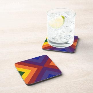 Rainbow Chevrons Beverage Coaster