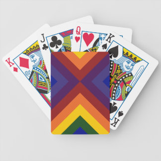 Rainbow Chevrons Bicycle Playing Cards