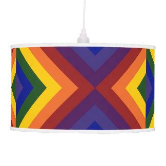Rainbow Chevrons Ceiling Lamp