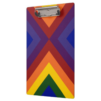 Rainbow Chevrons Clipboard