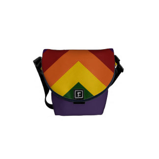 Rainbow Chevrons Courier Bag