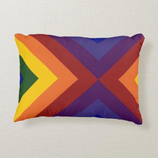 Rainbow Chevrons Decorative Pillow