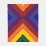Rainbow Chevrons Fleece Blanket