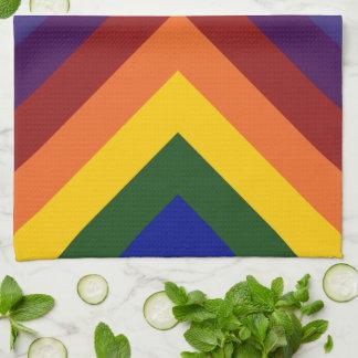 Rainbow Chevrons Kitchen Towels