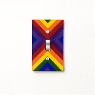Rainbow Chevrons Light Switch Cover