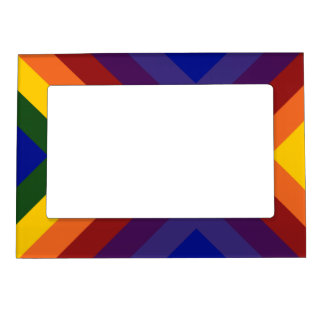 Rainbow Chevrons Magnetic Picture Frame