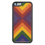Rainbow Chevrons Maple iPhone 6 Bumper