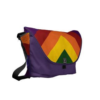 Rainbow Chevrons Messenger Bag