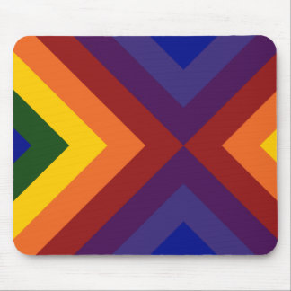 Rainbow Chevrons Mouse Pad