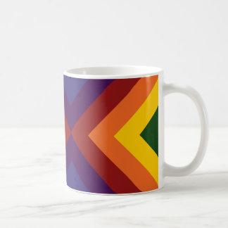 Rainbow Chevrons Mug Basic White Mug