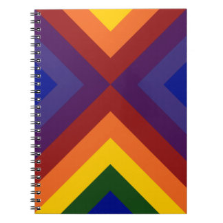 Rainbow Chevrons Spiral Note Book