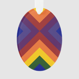 Rainbow Chevrons Ornament