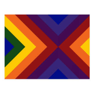 Rainbow Chevrons Postcard