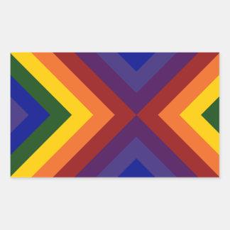 Rainbow Chevrons Rectangular Sticker