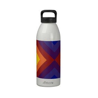 Rainbow Chevrons Reusable Water Bottle