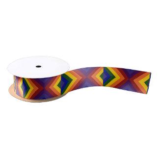 Rainbow Chevrons Satin Ribbon