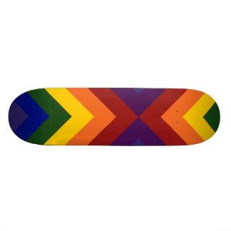 Rainbow Chevrons Skate Board Deck