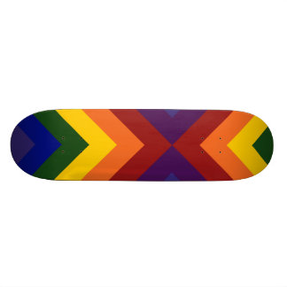 Rainbow Chevrons Skateboard