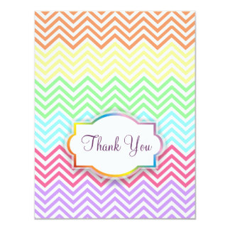 Rainbow Chevrons Thank You Card